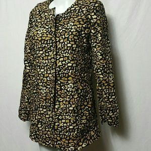 Who what wear Women NEW SMALL Watercolor  Cheetah